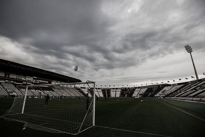 under the falling rain in toumba paokfc