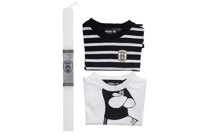 Paok presents for godchildren paokfc along with their easter candle our diminutive friends can acquire a casual and an official kit on resurrection night or on easter sunday negle Gallery