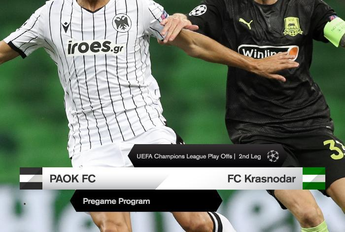 The Program For Paok Vs Krasnodar Paokfc